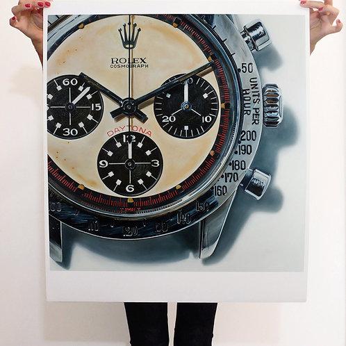 Giclée Art Print Rolex Paul Newman Daytona - Limited Edition