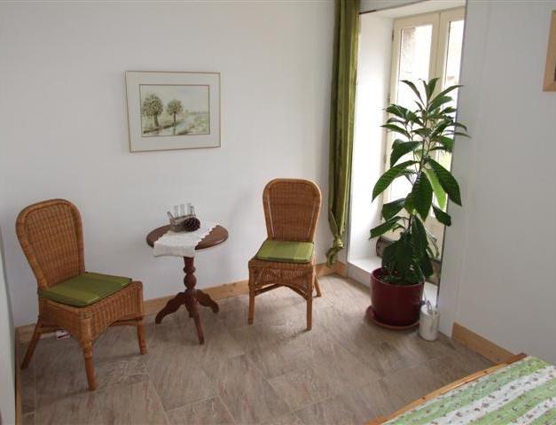 groene slaapkamer zitje
