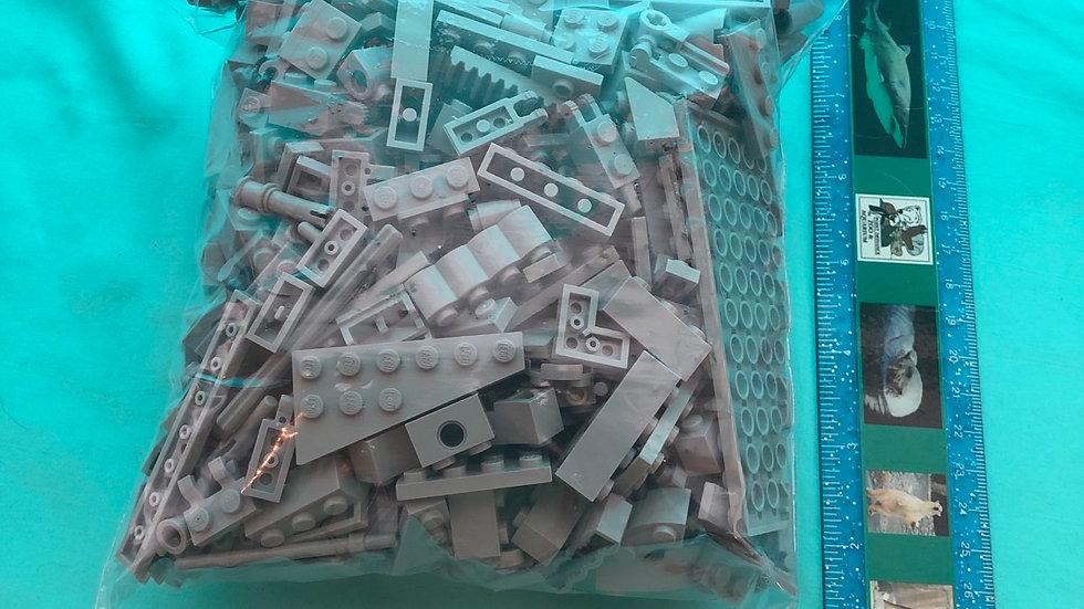 Gray lego pieces