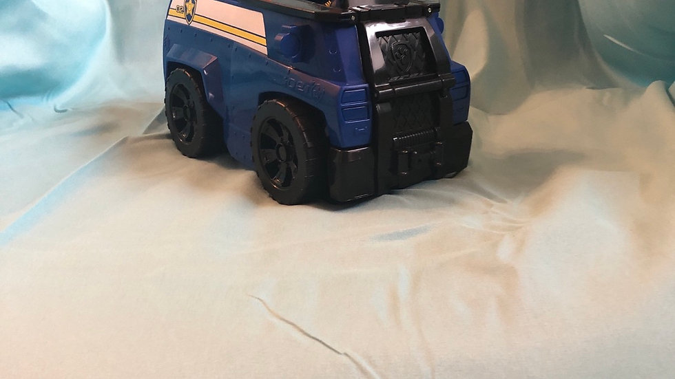 Paw patrol chase in transforming police car