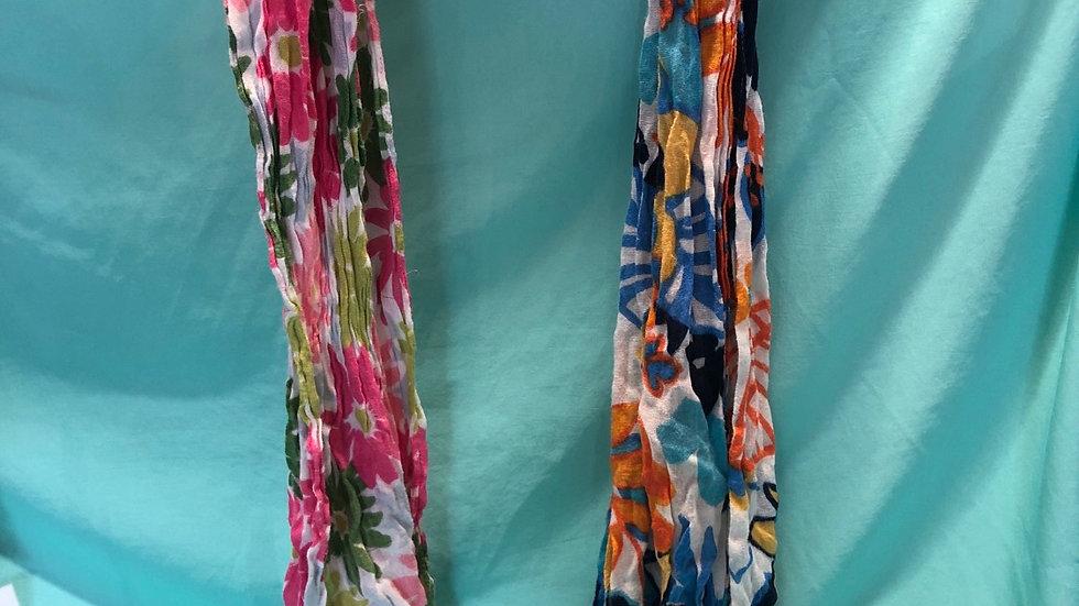 Floral scarfs 2 count