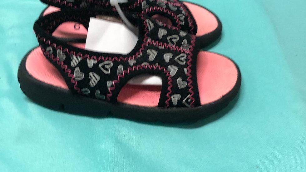 Little kid size 6, Garanimals pink and black sandals