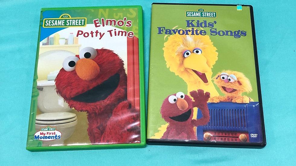 Sesame Street DVDs 2 count