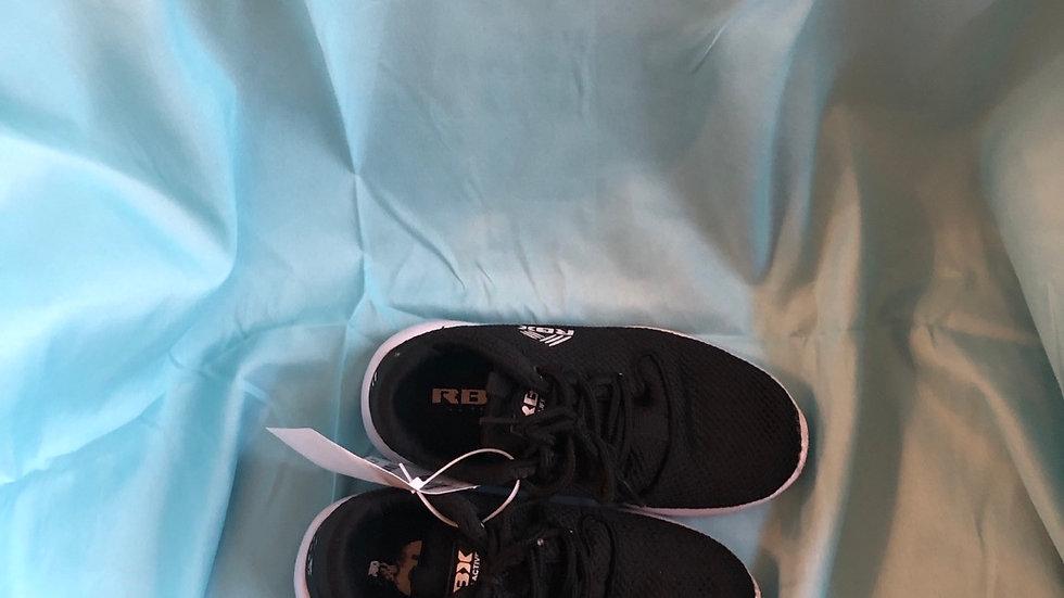 Little kid size 13, Reebok black tennis shoes