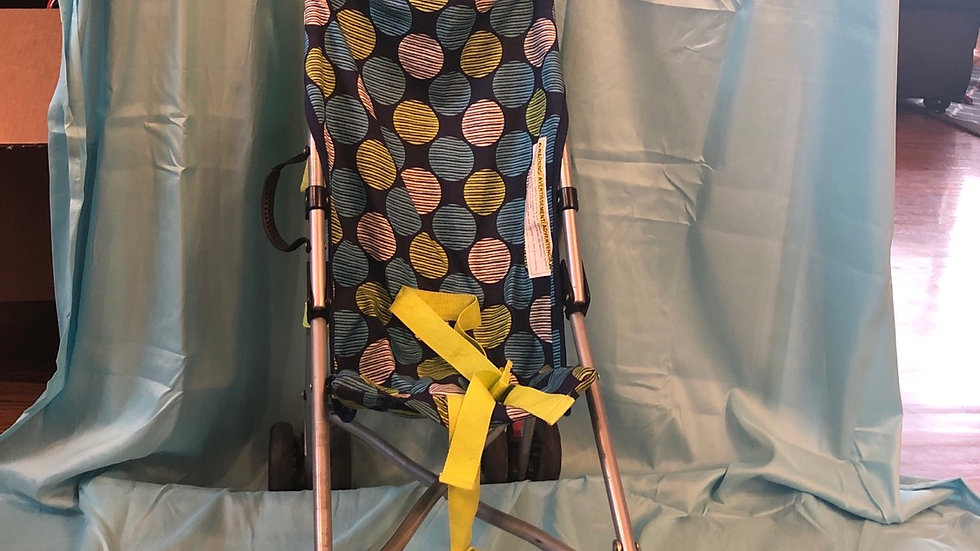 Babies R us green and blue umbrella stroller with shade cover