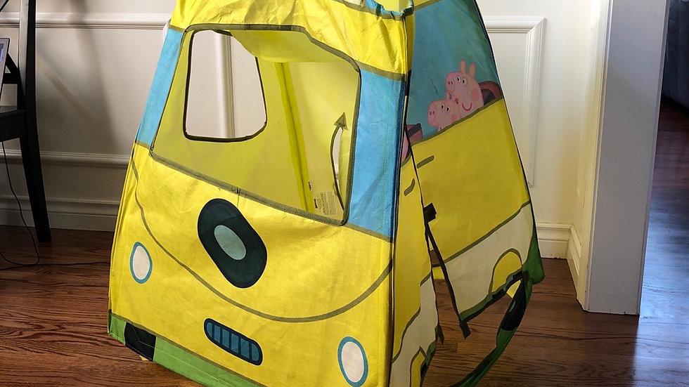 Peppa Pig bus play tent