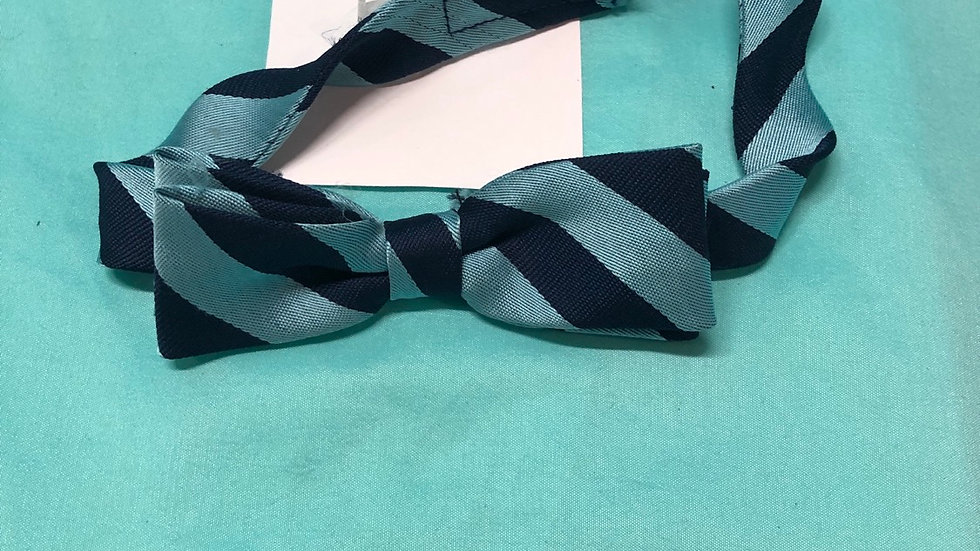 Size 6,Navy and blue striped bowtie