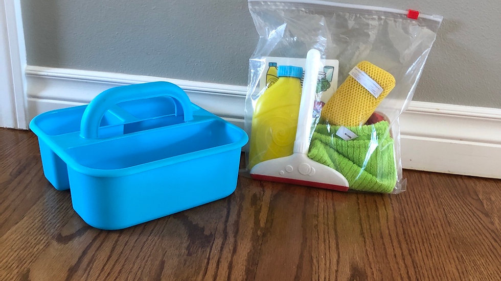Melissa and Doug cleaning caddy seven pieces