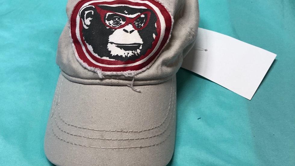 Hat, grey monkey size toddler