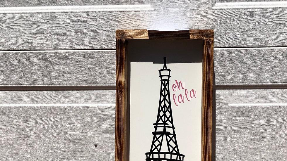 Paris Eiffel tower framed picture