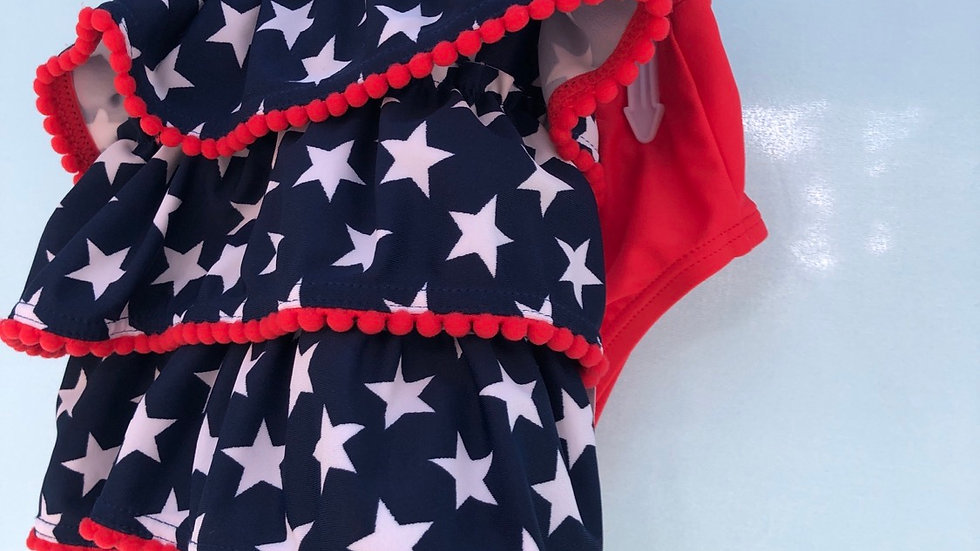 Size 6 months, two piece swimsuit