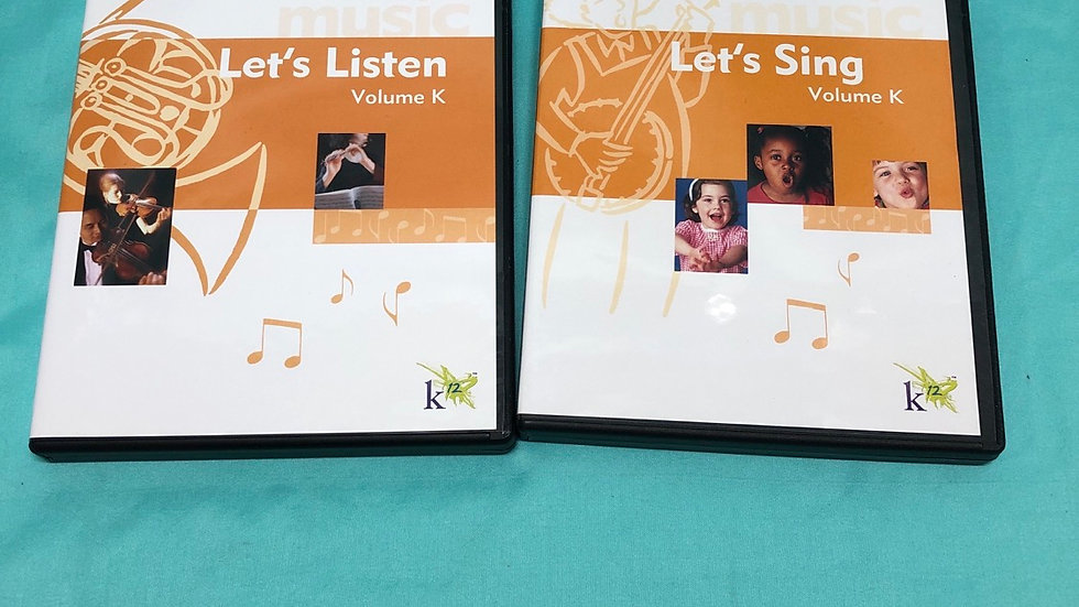 Let's sing and let's listen dvds 2 count