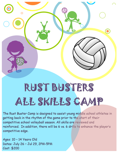 Rust Buster All Skills Camp