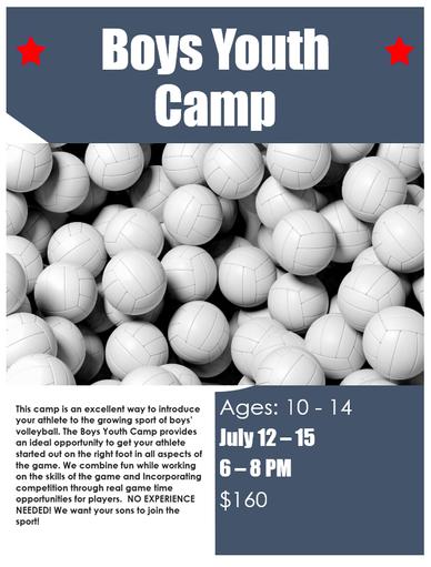 MVA Boys Youth Volleyball Camp