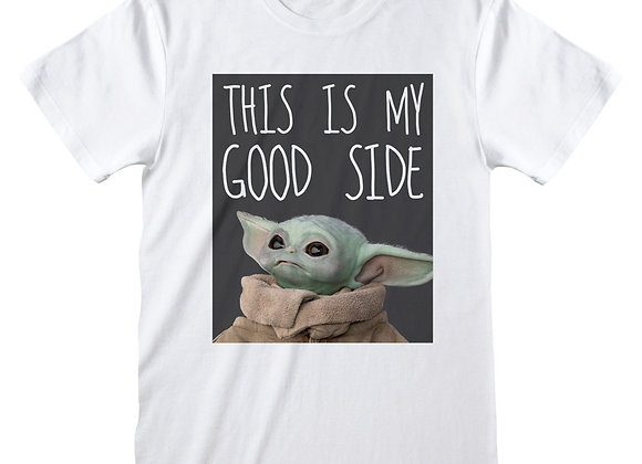 Mandalorian The Child This Is My Good Side Official T-Shirt