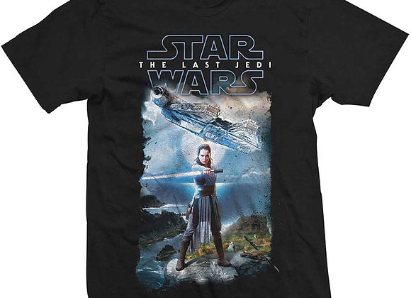Star Wars The Last Jedi Rey In Training Official T-Shirt