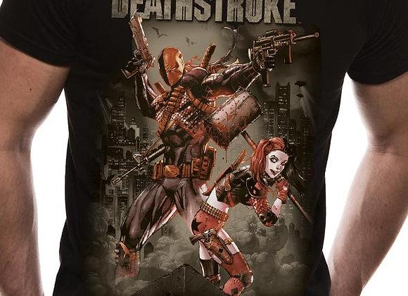 Deathstroke Justice League Harley Quinn Official DC Comics T-Shirt
