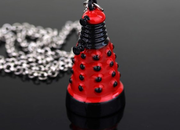Dr Who Red Mini Dalek Necklace
