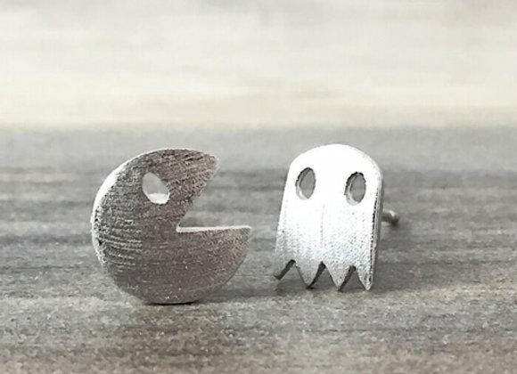 Pacman & Ghost Earrings