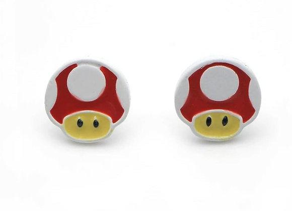 Cute Mini Mario Mushroom Earrings