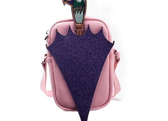 DISNEY Mary Poppins Glitter Umbrella Shaped Shoulder Bag with Shoulder Strap