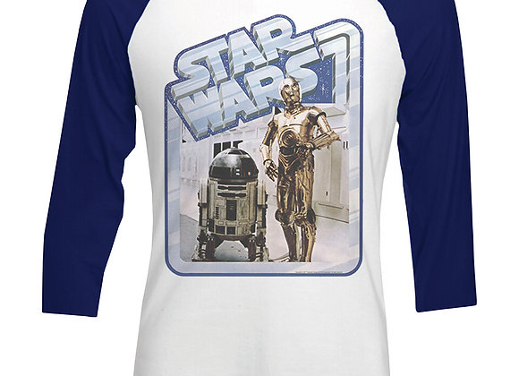 Star Wars Vintage Raglan Long Sleeve Official T-Shirt