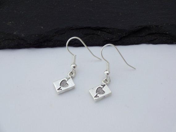 ace card earrings