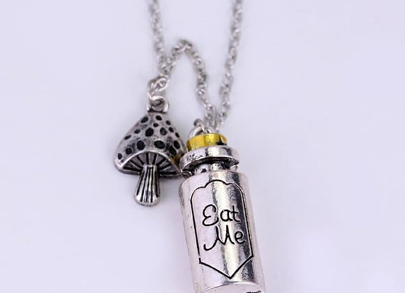 Eat Me Bottle Necklace Alice In Wonderland Necklace