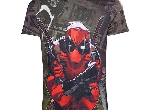 MARVEL COMICS Deadpool Dollar Bills T-Shirt