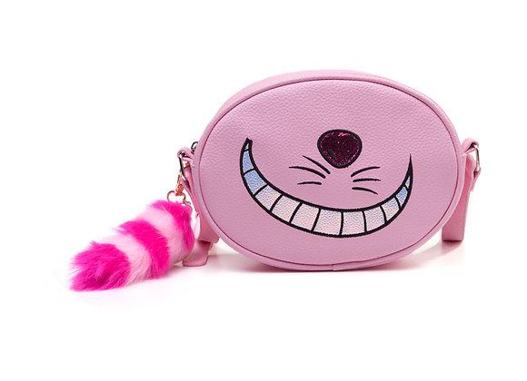 DISNEY Alice in Wonderland Cheshire Cat Shaped Shoulder Bag with Shoulder Strap