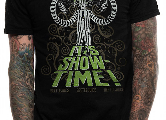 Official Beetlejuice 'It's Showtime!' Design T-Shirt
