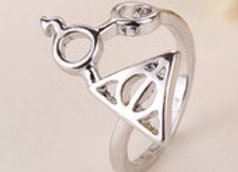 Harry Potter Deathly Hallows and Glasses Scar Ring