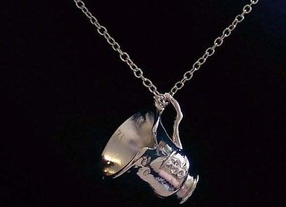Beauty & The Beast / OUAT Chipped Cup Necklace