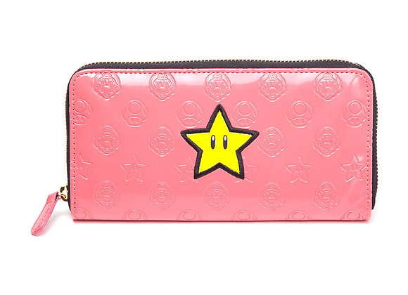 Pink Super Mario All Around Zipper Wallet Official Nintendo
