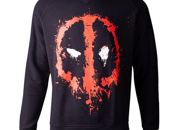 Official Marvel DEADPOOL Dripping Mask Sweater