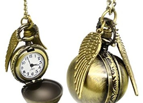 Harry Potter themed snitch pocket watch