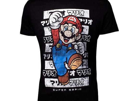 NINTENDO Super Mario Bros. Male Mario Core Kanto T-Shirt
