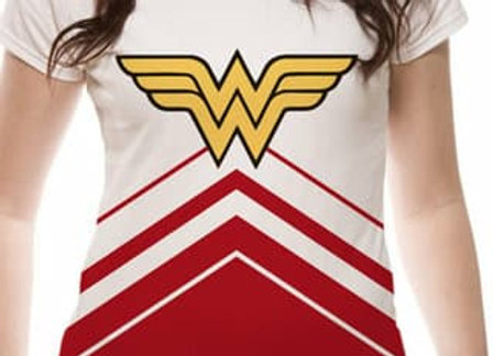 Wonder Woman Cheer Leader Sublimated Official DC T-Shirt