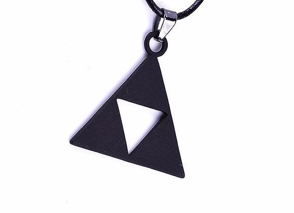 Zelda Triforce Necklace Black / Vintage