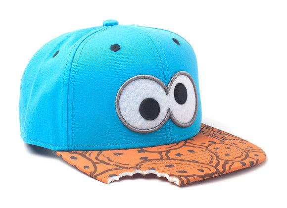 SESAME STREET Cookie Monster Eyes with Cookie Bite Snapback Baseball Cap