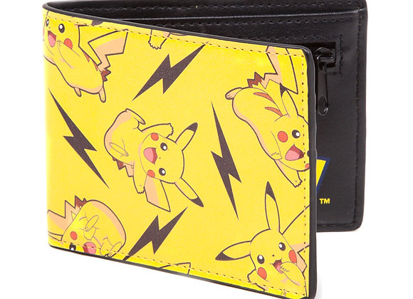 Pokemon All Over Design Pikachu Official Wallet