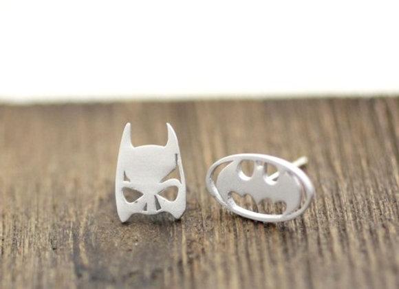 Batman Mask & Bat Sign Earrings