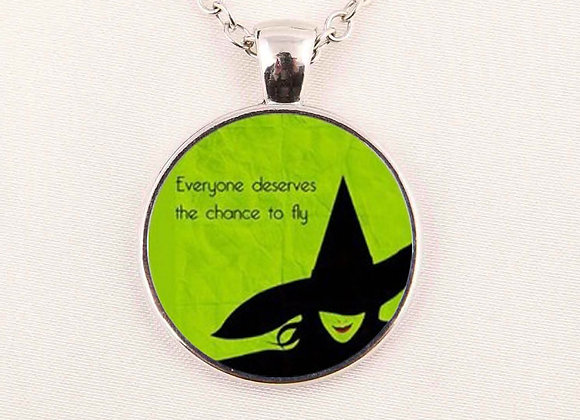 Wicked Quote Glass Necklace