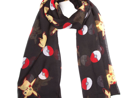 POKEMON Adult Pikachu & Pokeballs Scarf