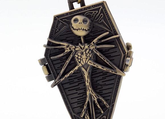 Jack Skellington Coffin Pendant Pocket Watch