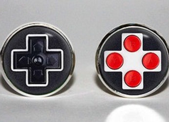 Cute Gamer Buttons Cabochon Earrings