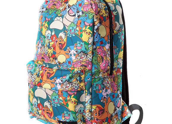 Pokemon All Over Characters Official Backpack