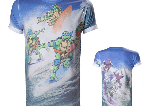 TEENAGE MUTANT NINJA TURTLES (TMNT) Surfing Turtles All-Over Sublimation T-Shirt