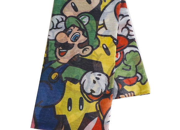 NINTENDO Super Mario Bros. All-over Characters Fashion Scarf