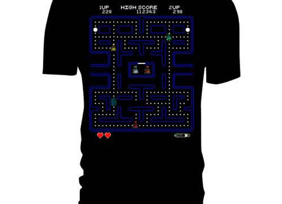 Doctor Who Pac-Man Retro Maze Unisex Official T-Shirt